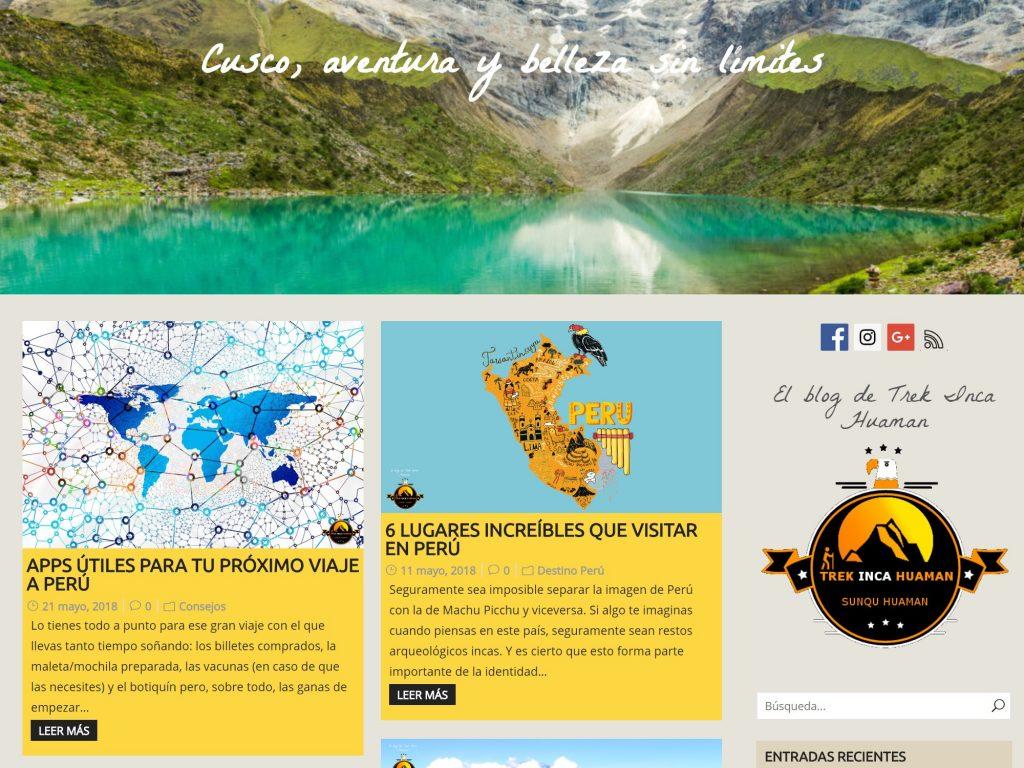 Blog de Trek Inca Huaman